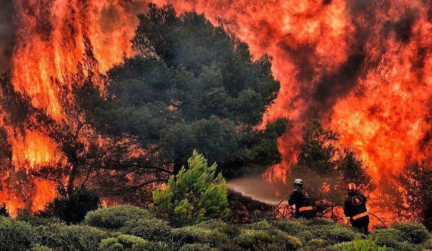 В Греции вспыхнули пожары-Новости туризма в России и мире